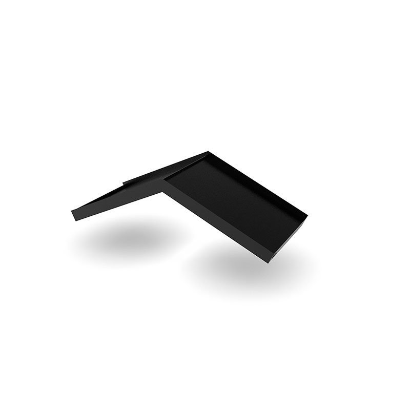 Designtak Simple Angled Ovikatos Musta