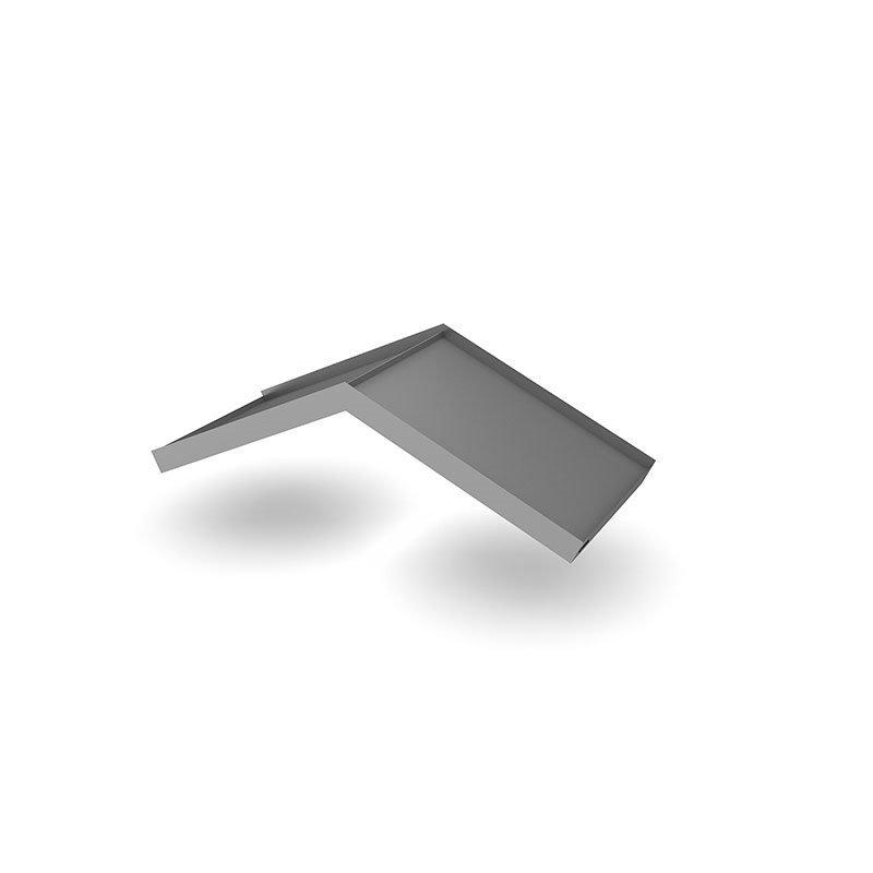 Designtak Simple Angled Ovikatos Tumma Hopea
