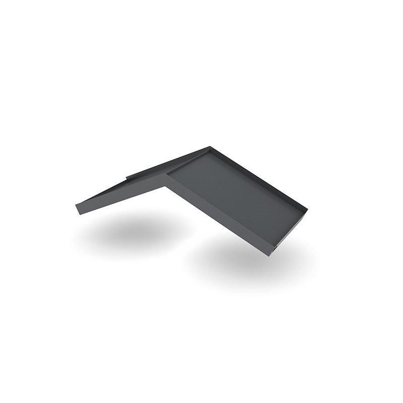 Designtak Simple Angled Ovikatos Tummanharmaa